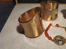 Four Piece Jewelry Lot Bracelets for Repurposing or use with flaws image 3