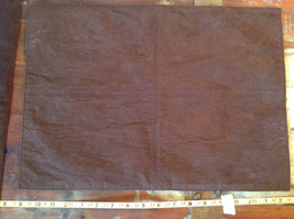 Four Brown Suede Like Material Dinner Placemats Very Sturdy Material image 2