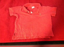 Gap Red Boys Polo Colored Shirt 1 Button Closure at neck Size 12 to 18  Months