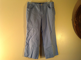 Geoffrey Beene Sport Light Blue Jean Capri Pants Size 6 Excellent Condition