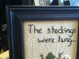 """Framed """"The Stockings Were Hung..."""" Hand Stitched Picture Christmas Decor image 2"""