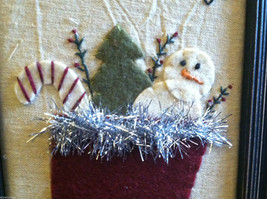 """Framed """"The Stockings Were Hung..."""" Hand Stitched Picture Christmas Decor image 4"""