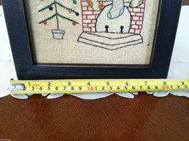 """Framed """"The Stockings Were Hung by the Chimney..."""" Stitched Christmas Decor image 5"""