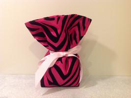 Handmade by Caroline Hallak Personal Touch Gift Bag Fuchsia Pink Black Velvet