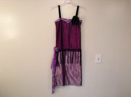 Handmade Dark Light Violet Sleeveless Evening Dress 20s Style Size Small Flapper image 1
