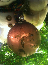 Frosted Hand blown heirloom glass Christmas ornament Vintage Victorian lavender image 2