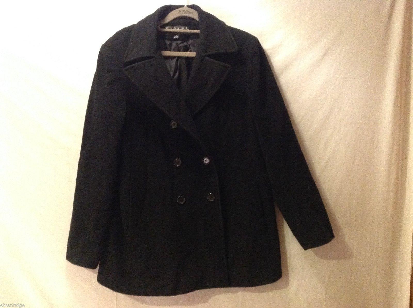 Giacca Women's Black Winter Coat, Size Large
