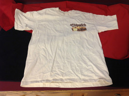Gildan Activewear Ladies Cream Colored T-Shirt Chipwich Picture on Front Size L