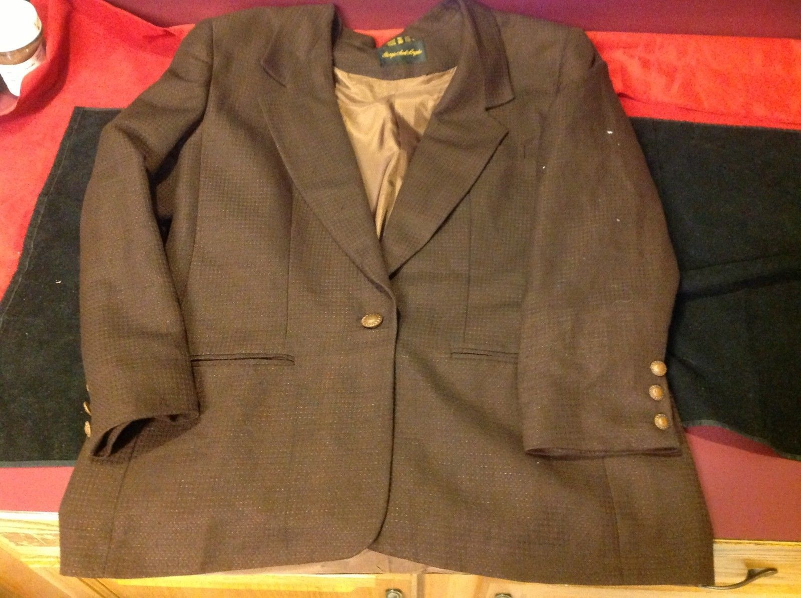 Giorgio Sant' Angelo  dark brown Coat for man size 16 made in egypt