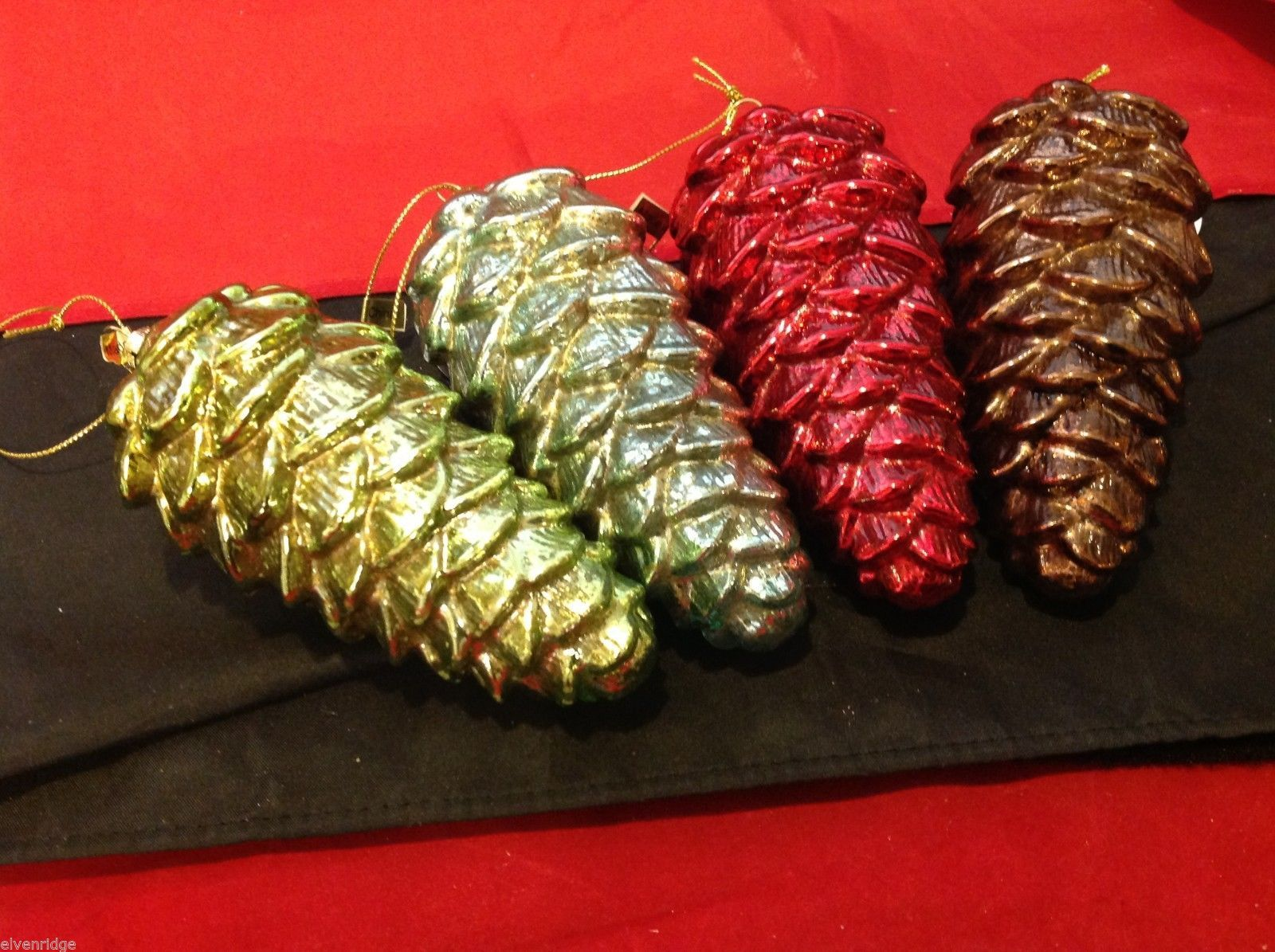 Glass Pine Cones frosted in choice of Color Department 56