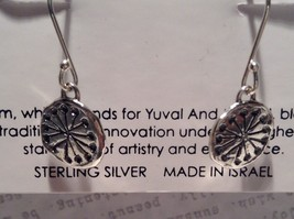 Handmade Sterling Silver Pendant Flat Earrings