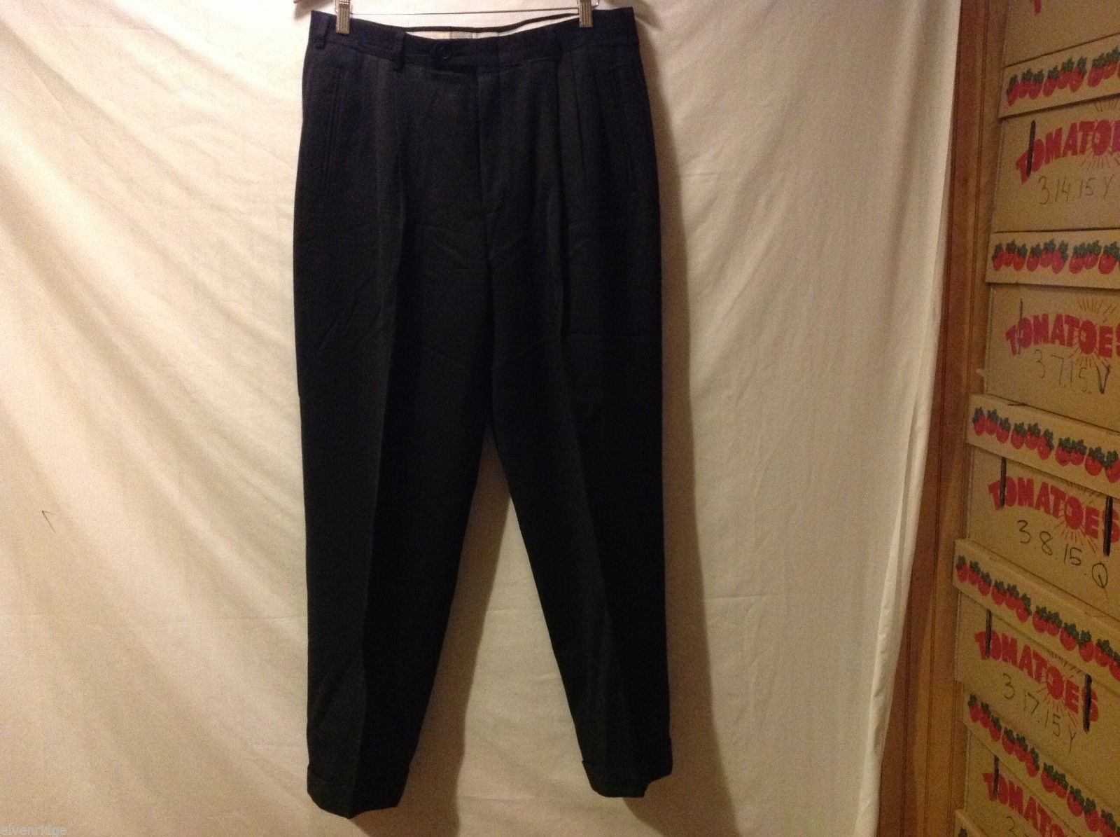 Hastings Traditions Mens Black Dress Pants