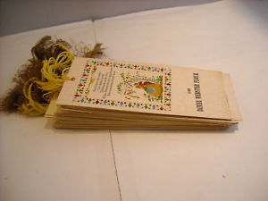 40 Antique Bookmarks Daniel Webster Flour