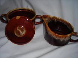 Glazed Antique Creamer and Sugar Bowl Set