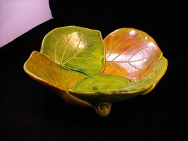 Glazed Hydrangea Leaf Bowl New Handmade  by Suzanna