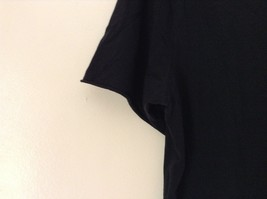 H and M Black V Neck Short Sleeve 100 Percent Cotton Soft T Shirt No Size Tag image 4