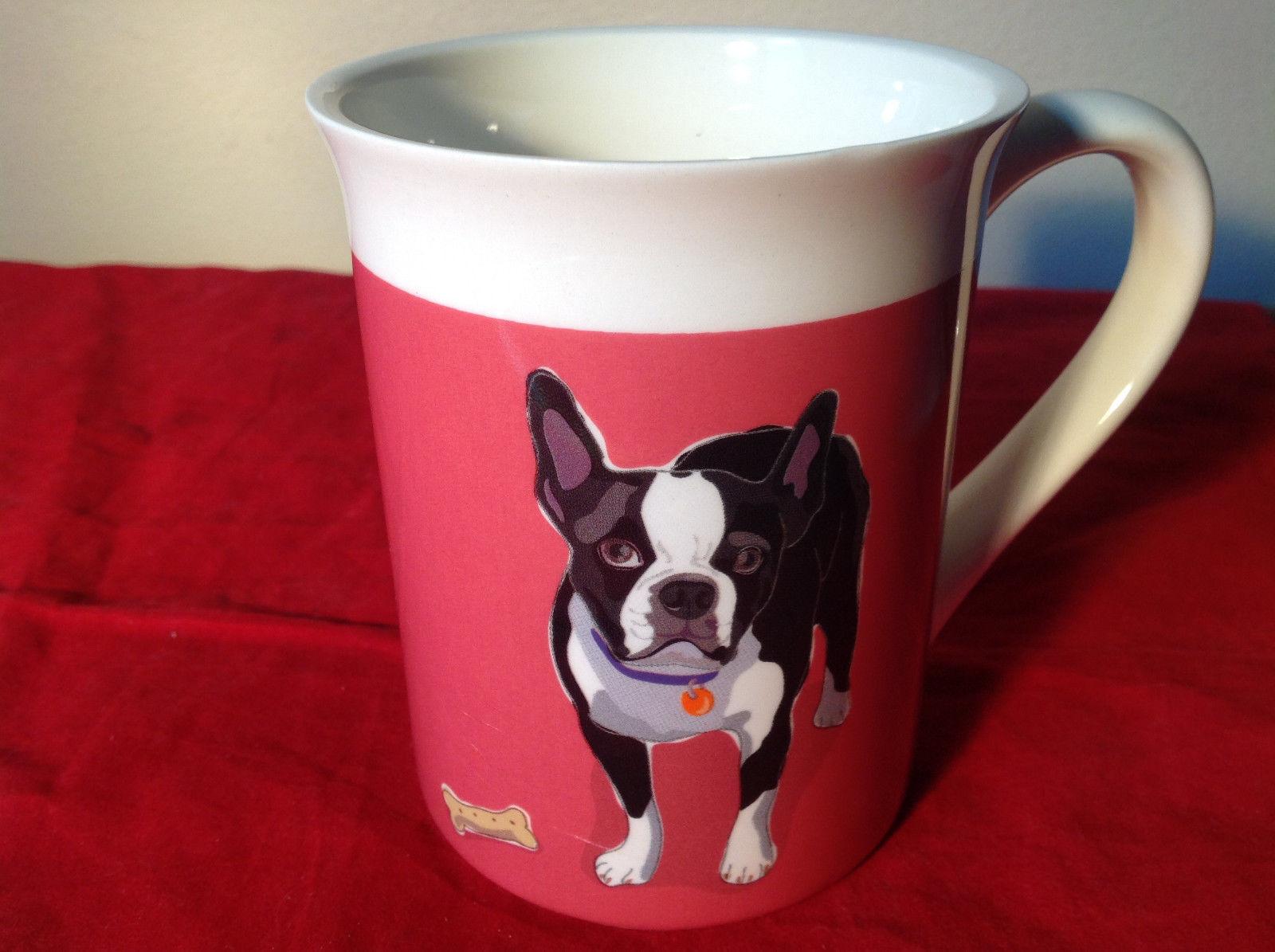 Go Dog Boston Terrier Mug by Paper Russells w Original Box 16 oz Department 56