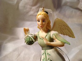 Hallmark The Gift of Love Green Holiday Angel Ornament Ribbon for Hanging image 4