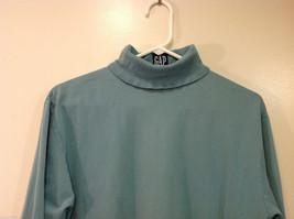 GAP Soft Turquoise (Blue/Green) 100% cotton Turtleneck Sweater, Size M image 3