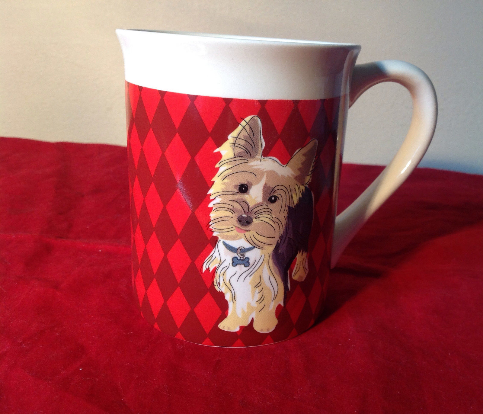 Go Dog Yorkie Mug by Paper Russells w Original Box 16 ounces Department 56