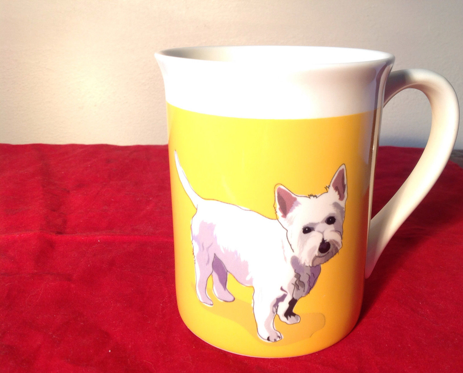 Go Dog Westie Mug by Paper Russells w Original Box 16 oz Department 56