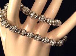 4 steampunk mod industrial glam black silver crystal metal element bracelet #4 image 2