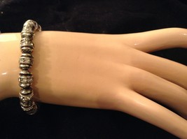 4 steampunk mod industrial glam black silver crystal metal element bracelet #4 image 3