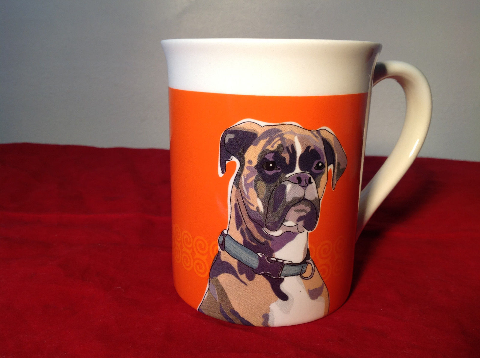 Go Dog Boxer Mug by Paper Russels with Original Box 16 ounces Department 56