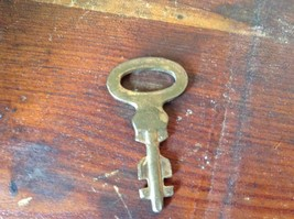 Gold Tone Small Vintage Key with Number 478 Printed on