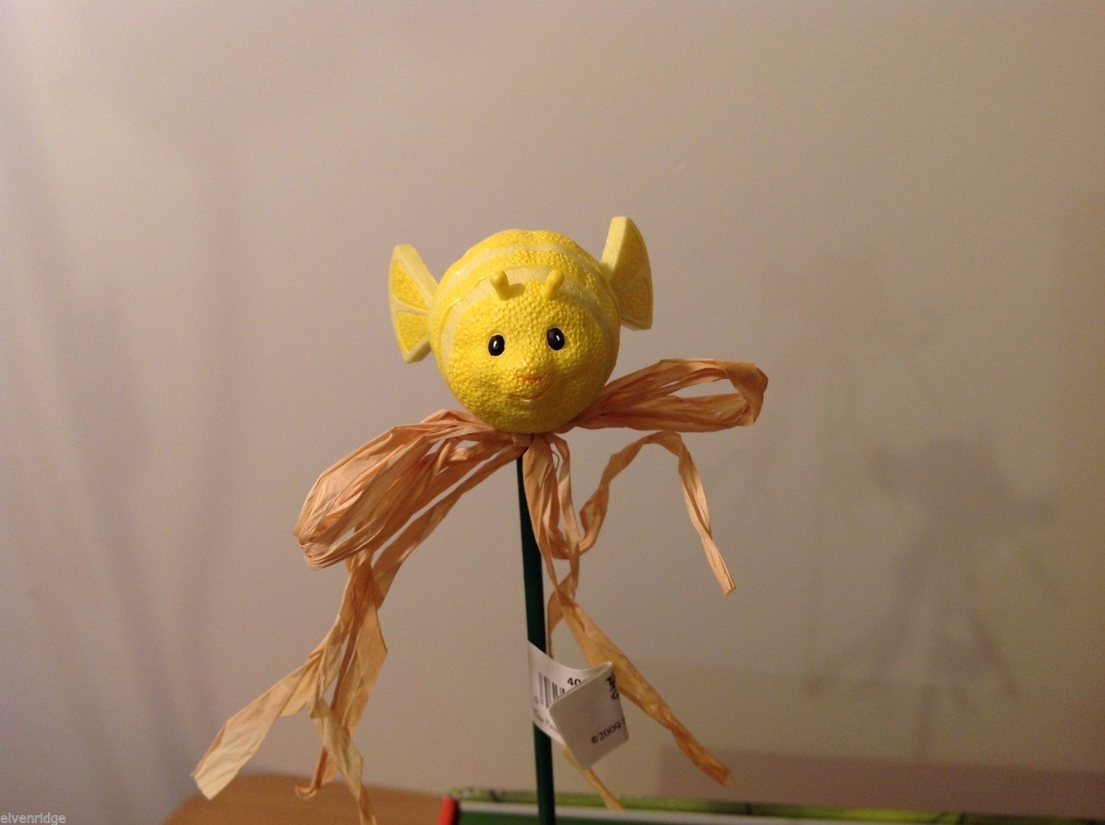 Home Grown Plant Pot Stick Lemon Puffer Fish  Play w your Food Sculpted
