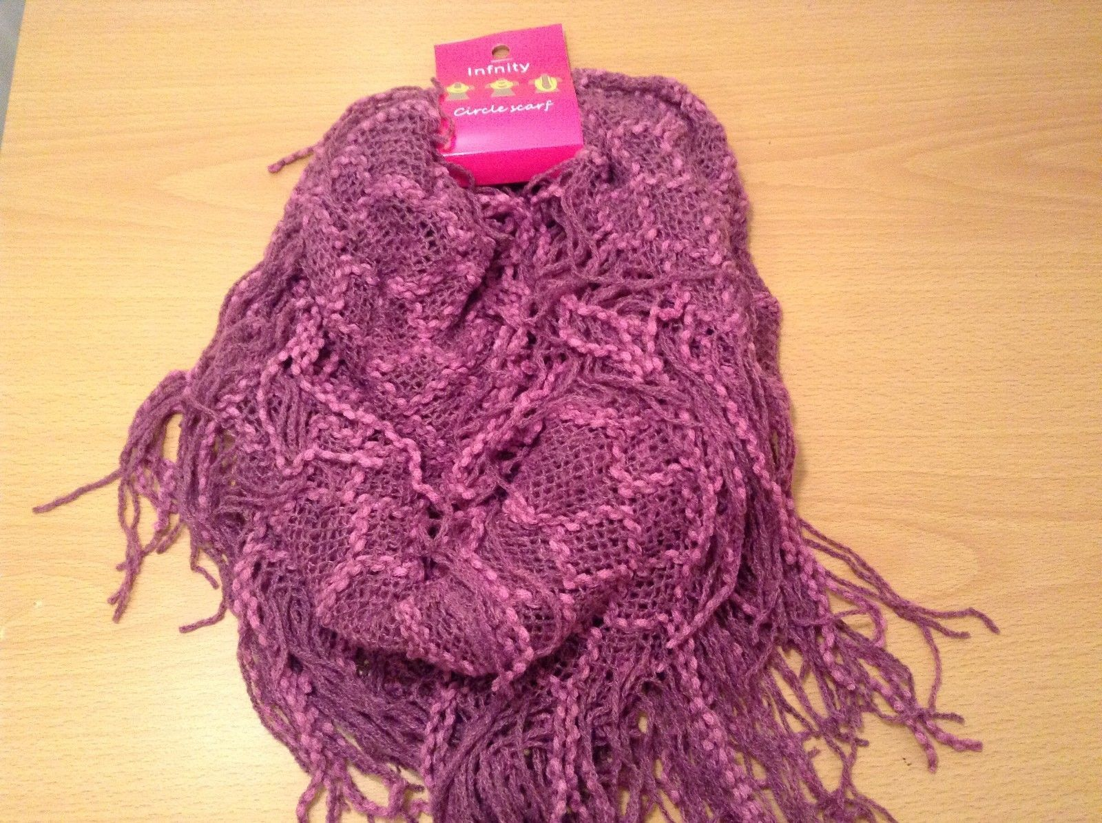 Honeycomb soft Fashion Infinity Scarf in choice of colors Perfect coat accent
