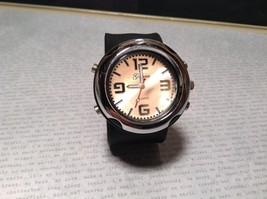 Geneva Quartz Watch Four Fake Buttons on Side Removable and Snap on Wristband image 3