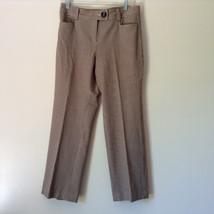 Gold White Black Plaid Pants by Talbots Petite Size 10