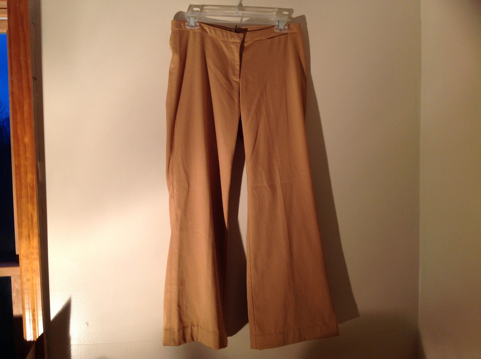 Golden Tan Dress Pants by Divided Zipper Clasp Button Closure Wide Leg Size M