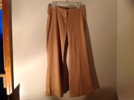 Golden Tan Dress Pants by Divided Zipper Clasp Button Closure Wide Leg Size M