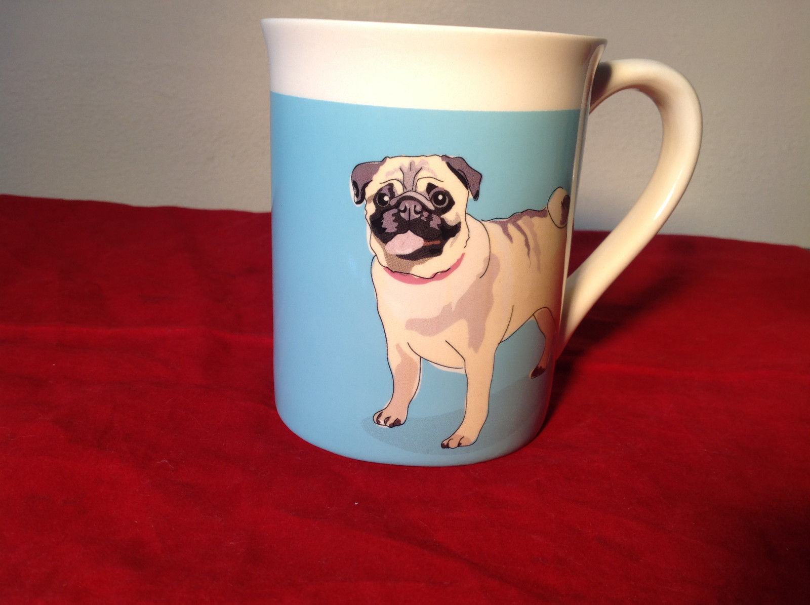 Go Dog Pug Mug by Paper Russells with Original Box 16 ounces Department 56