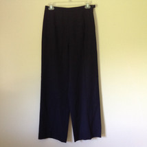 Good Looking Ann Taylor Petites Black 100 Percent Wool Dress Pants Size 6P image 1