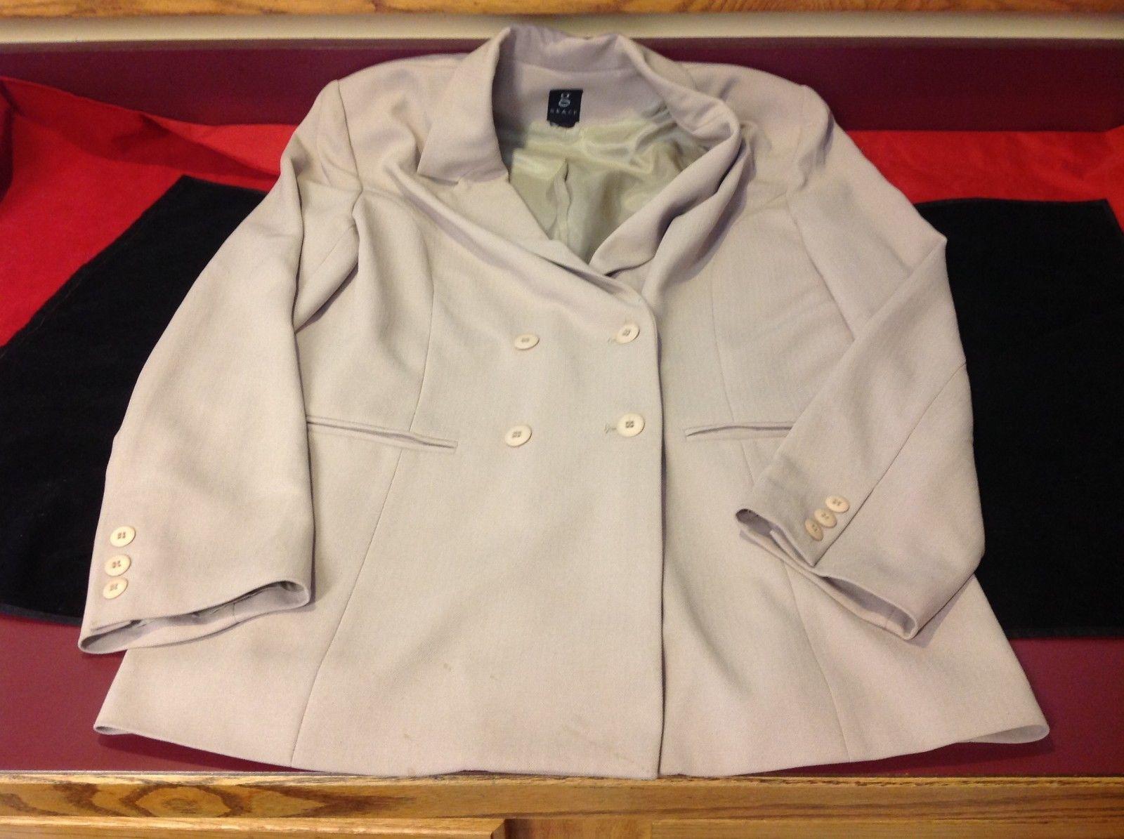 Grace light brown blazer for woman 21in Wide 28 in Long