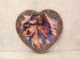 Handmade Decoupage Decorative Wall Flat Plaque Ornament Madonna with Child image 2