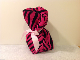 Handmade by Caroline Hallak Personal Touch Gift Bag Fuchsia Pink Black Velvet image 2