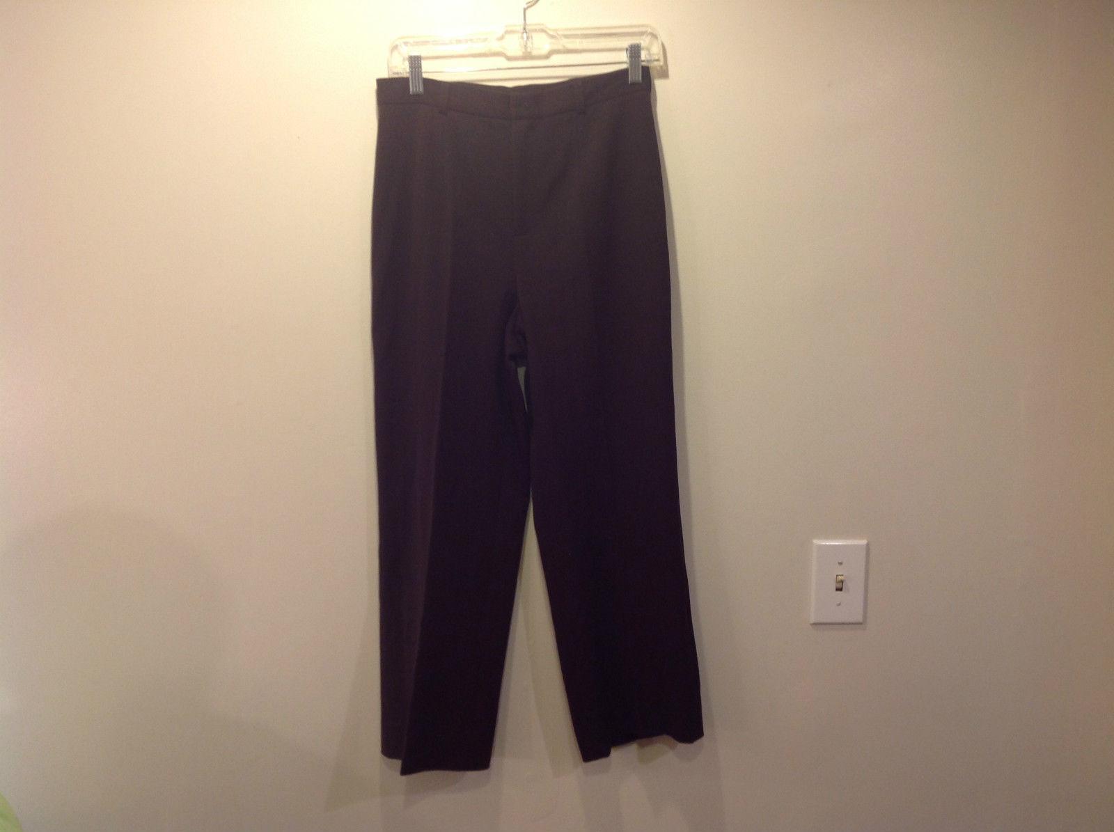 Grace Elements Brown Dress Pants Size 6 Button and Zipper Closure Good Condition