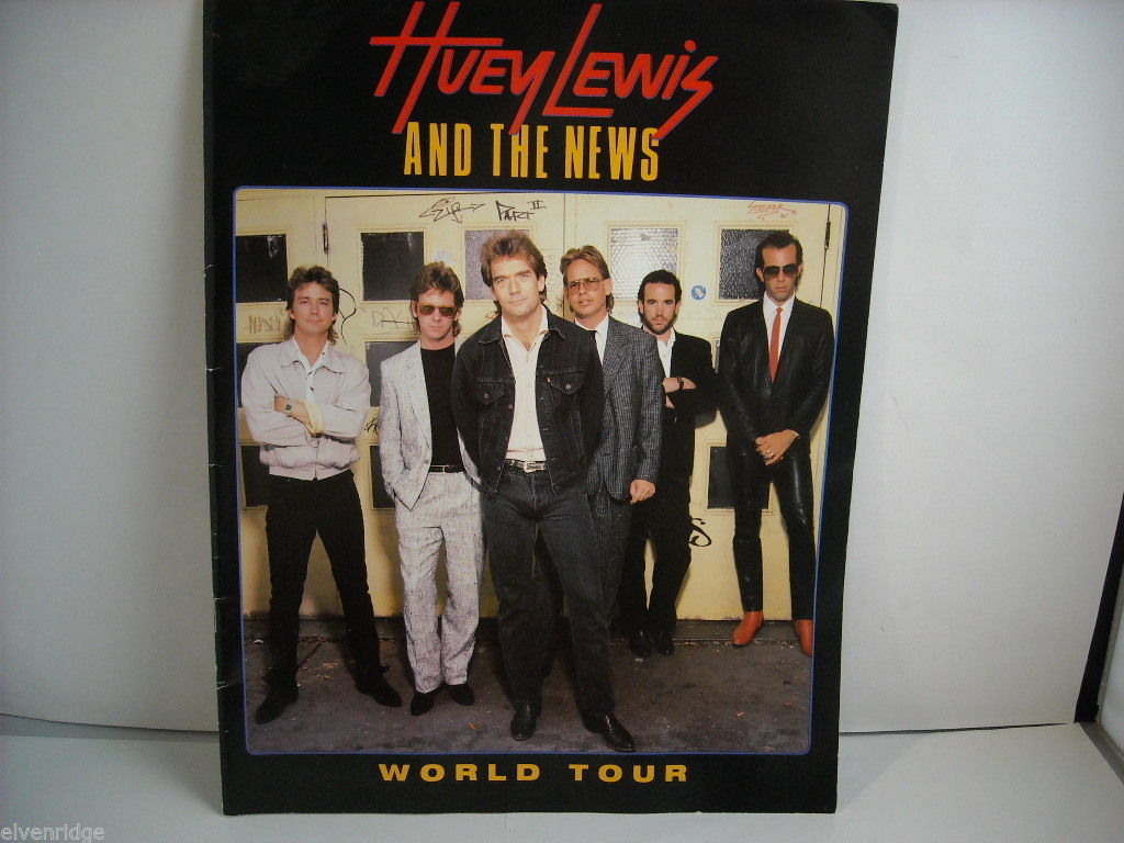 Huey Lewis and the News World Tour Concert Booklet Program 1986