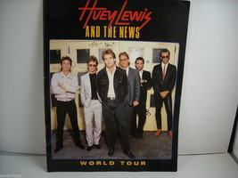 Huey Lewis and the News World Tour Concert Booklet Program 1986 image 1