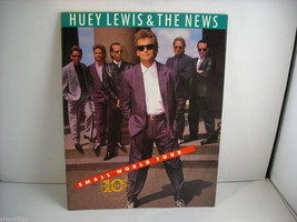 Huey Lewis and the News Small World Tour 10th Anniversary Concert Program 1988