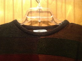 Gianfranco Ruffini Italy Dark Sweater Size Medium Checkered Pattern Multicolor image 2