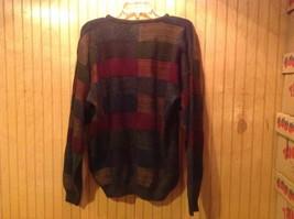 Gianfranco Ruffini Italy Dark Sweater Size Medium Checkered Pattern Multicolor image 3