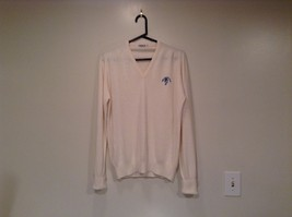 IZOD White V Neck 100 Percent Acrylic Long Sleeve Sweater Size Large No Tags