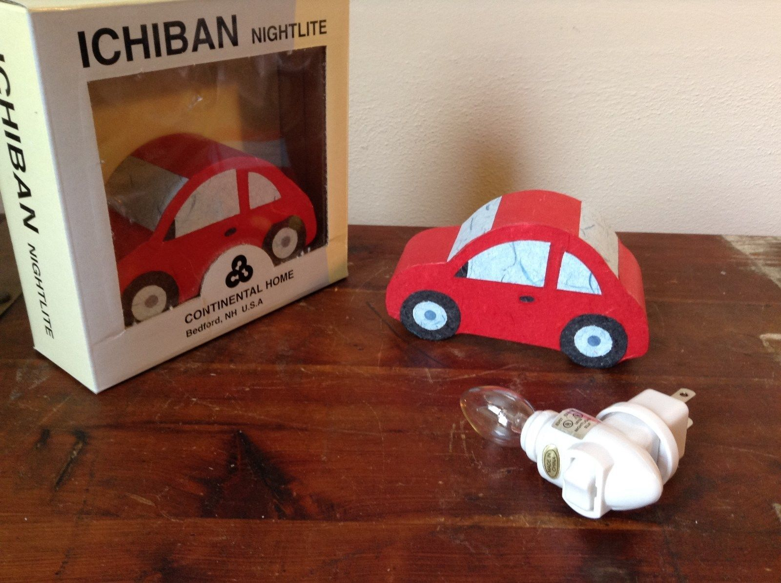 Ichiban Night Light Red Car Original Box US Outlet