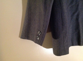 Giorgio Saint Angelo Gray Pinstriped Pant Suit 1 Button on Jacket Size 10 image 5