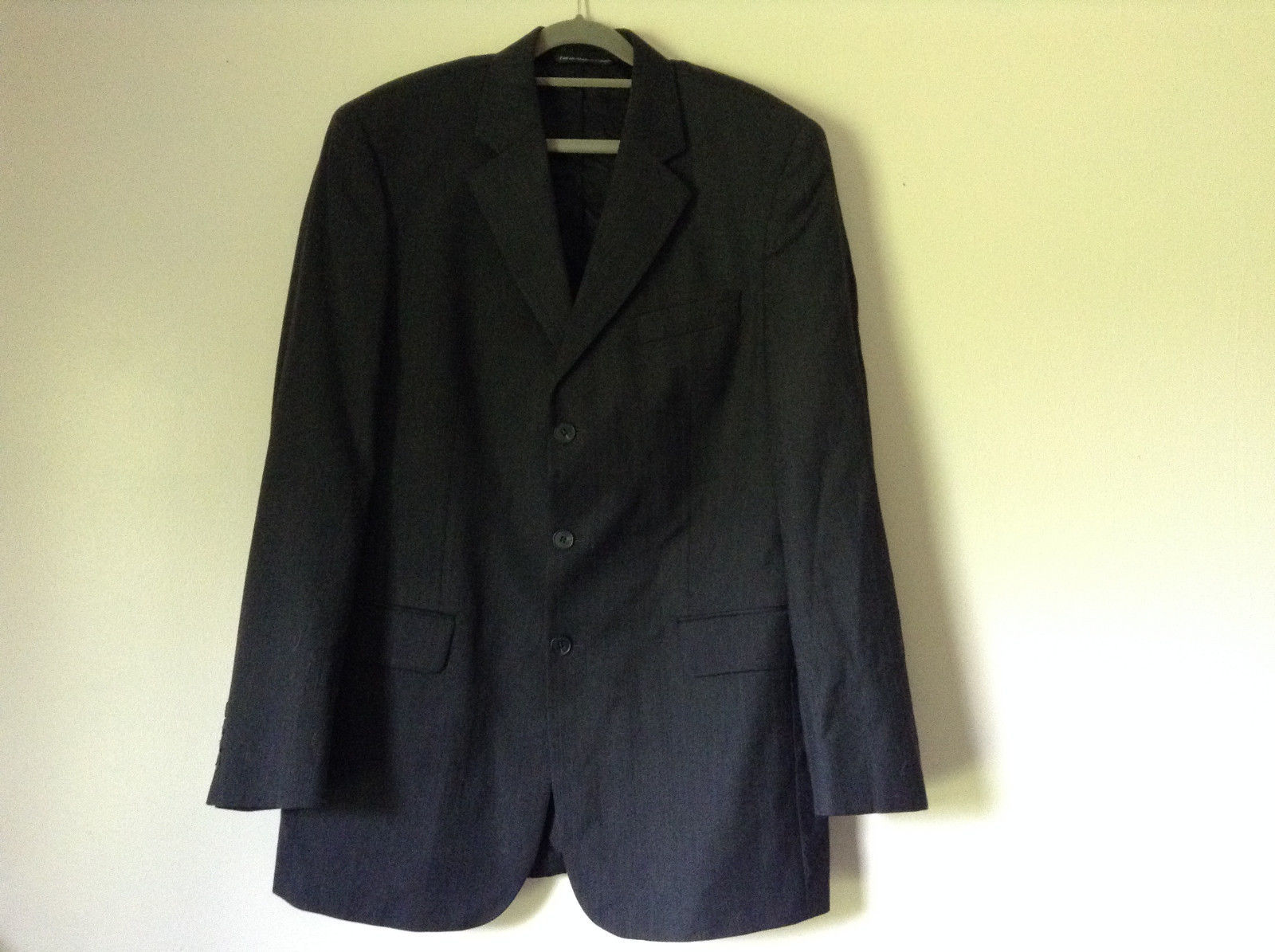 Gray Black Suit Jacket with Pockets by Victor International See Measurements